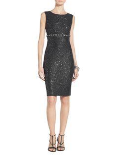 Spangle Knit Empire Bodice Dress