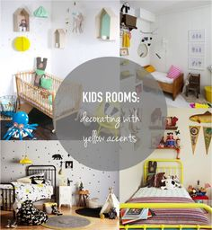Kids rooms: Decorate with yellow accents and add a splash of sunshine to your kids room.