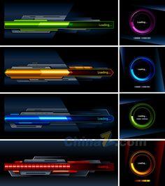 Colorful cool vector progress bar material