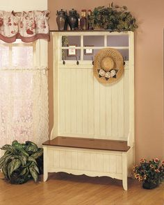 plug for me! i designed this french country entry bench about 15 years ago :-) and i did the photo styling too