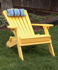 Au0026L Furniture Lemon Yellow Poly Folding Recliner & 32 best Polywood Adirondack Chairs images on Pinterest | Polywood ...