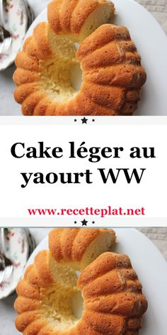 Here is the recipe for the Weight Watchers light yogurt cake, a tasty cake flavored with vanilla, easy and simple to make for a gourmet snack. Vegan Crockpot Recipes, Ww Recipes, Chicken Recipes, Healthy Dinner Recipes, Plats Weight Watchers, Weight Watchers Breakfast, Weight Watchers Meals, Ww Desserts, Dessert Recipes