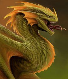 green dragon by TatianaMakeeva