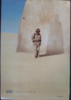 Original Double Sided Spanish one sheet movie poster for Star Wars Episode I Phantom Menace from 1999. 27 x 40 inches. NM condition.