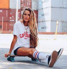Nocturnal Abstract Artist John Shashaty brings you the best skate, skateboard, sneakers, kicks, v Surfer Outfit, Skateboard Photos, Skateboard Girl, Skateboard Clothing, Surfergirl Style, Shotting Photo, Skater Girl Outfits, Skate Girl, Burton Snowboards