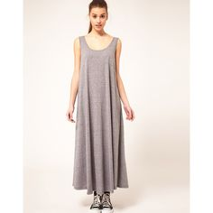 American Apparel A Line Maxi Dress ($58) found on Polyvore elegant simple