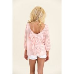 Just Too Cute Blouse-Coral