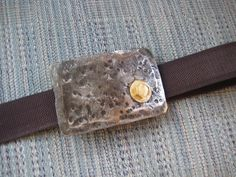Belt Buckle With Brass Bolt Hand Forged by by FoggyMountainForge, $7.50