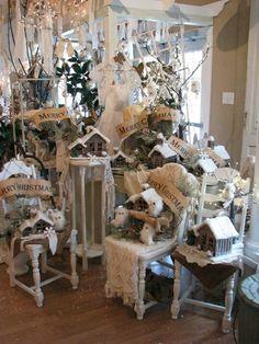 White Christmas display