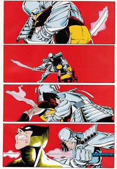 Wolverine vs Silver Samurai From Uncanny X-Men #173 (1983) - Art by Paul Smith, Story by Chris Claremont