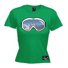 Powder Monkeez Women's Ski Goggles Skiing T-Shirt