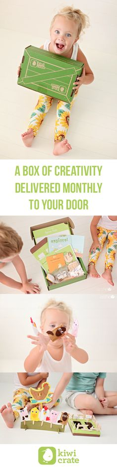 Monthly arts and craft kits for kids delivered to your door with all the supplies you need included. Pictures from @howdoesshe