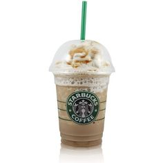 Healthy Copycat Starbuck Frappuccino Recipe This... ❤ liked on Polyvore featuring food, drinks, food and drink, fillers and accessories