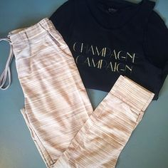 call these joggers all you want, but i will definitely be lounging in them instead #ootd #lounge #graphictee #minkpink #signorelli #shoppoppy