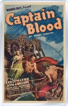Errol Flynn - Captain Blood - Fridge Magnet
