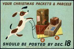 GPO poster, England.  Designed, Lewitt-Him, 1940's.