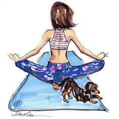 The Girls Are Always Hot & The Beer Is Ice Cold — aplacef yoga pet mascotaorart: by Inslee / more art here Yoga Illustration, Illustration Sketches, Yoga Art, My Yoga, Yoga Cartoon, Yoga Training, How To Handle Stress, My Little Paris, Dachshund Love