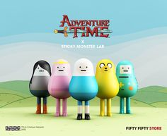 Sticky Monster Labs Adventure TimeFigures from Fifty Fifty Store!