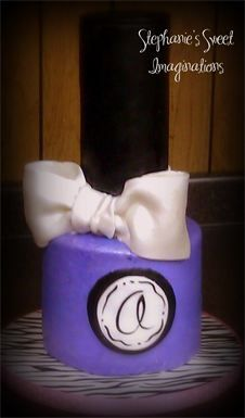 Girls Day out Fun Cakes (handcrafted nail polish bottle out of cake...all edible!)