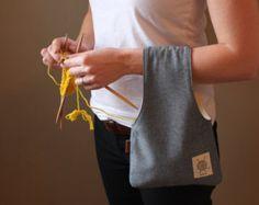 Proyecto bolso bolso que hace punto tejer pequeño por OtterburnPQ