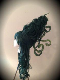 Steampunk Wig Sea Witch Wig with Octopus Tentacles by monkeythumbs