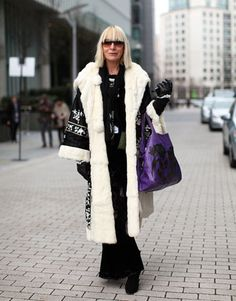 the famous Virginia Bates at fashion week  in London 2011