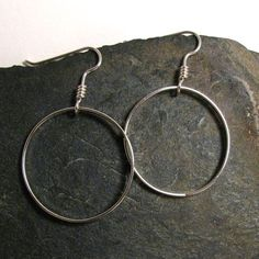 Silver Earrings Sterling Hoops by thecopperphoenix on Etsy, $39.00