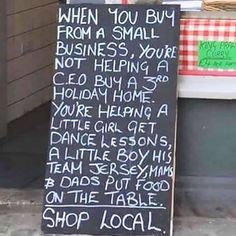 Show local please this is true my mom owns a local shop