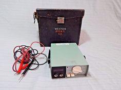 Vintage Weston 4440 Digital Multimeter W Case Untested #Weston