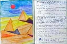 Waldorf ~ 5th grade ~ Ancient Egypt ~ Pyramids ~ main lesson book Ancient Egypt Pyramids, 6th Grade Social Studies, Egypt Art, Thematic Units, Classroom Inspiration, Fifth Grade, 5th Grades, Ancient Civilizations, Ancient History