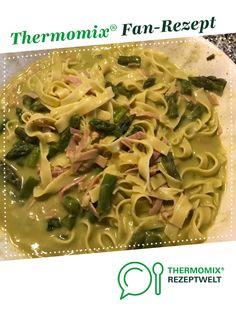 Grüner Spargel mit Kochschinken und Tagliatelle von Reesje. Ein Thermomix ® Rezept aus der Kategorie Hauptgerichte mit Gemüse auf www.rezeptwelt.de, der Thermomix ® Community.