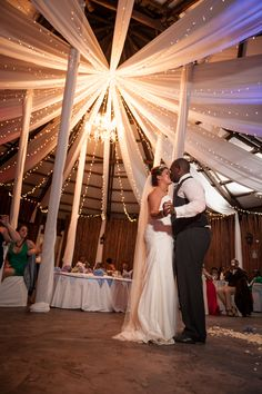 Gorgeous wedding - look at the draping in our Boma!!