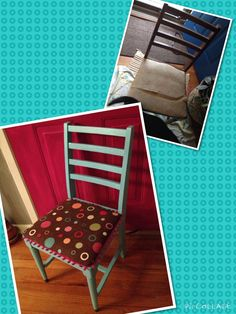 Upcycled fabulous chair was $5 at thrift store! Birthday present for my daughter. :)