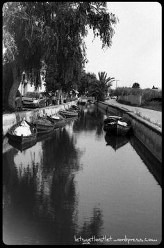 B&W, ByN, analog, film, analógico, película, Albufera, Valencia, el Palmar, Spain, boats, water, barcos, agua,  https://letsgetlostlet.wordpress.com/2015/10/14/parked/