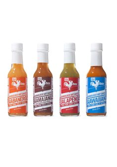 """Produced by a family in Maui, these all-natural hot sauces made from locally sourced chilies represent increasing levels of heat, from mild jalapeno to ghost pepper—laced hamajang, which is Hawaiian slang for """"messed up."""""""