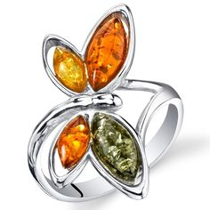 Amber Ring, Amber Jewelry, Jewelry Gifts, Silver Jewelry, Silver Rings, Jewellery, Butterfly Ring, Butterfly Shape, Accessories