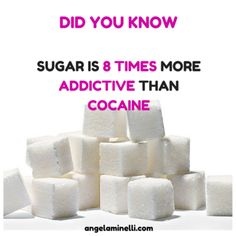 Did you know?  Sugar's sneaky!  It's 8x more addictive than cocaine!  Quit the crack.  Get 30 Days to No More Cravings today!
