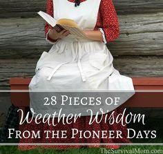 28 Pieces of Weather Wisdom From the Pioneer Days - Survival Mom Pioneer Day, Pioneer Life, Pioneer Woman, Survival Tips, Survival Skills, Urban Survival, Hobby Photography, Mini Farm, Urban Homesteading