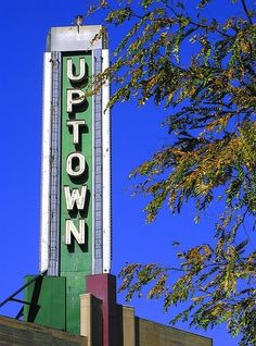 The Uptown Theater in uptown Minneapolis is located near Lake Calhoun and Lake Harriet. The primary audience is interested in independent films.