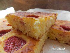 Rizslisztes olcsó epres-túrós kevert gluténmentes sütemény recept. Eper helyett tetszőleges idénygyümölccsel is elkészíthető. Egyszerű és gyors süti recept.
