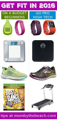 Get Fit in 2016 with Budget and Pro Fitness Gear - featuring FitBits, scales, running shoes and more.
