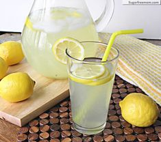 Naturally Sweetened Lemonade ~ The kids will love it and you will too! Naturally Sweetened Lemonade ~ The kids will love it and you will too! Lemon Recipes, Low Carb Recipes, Cooking Recipes, Healthy Recipes, Diabetic Recipes, Drink Recipes, Yummy Drinks, Healthy Drinks, Healthy Snacks