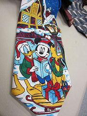 Mickey Mouse tie. Yes, it's going in the crazy quilts!