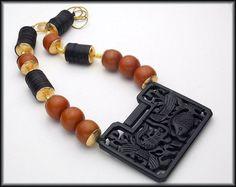 GEISHA  Handcarved Black Jade Pendant  by sandrawebsterjewelry, $225.00
