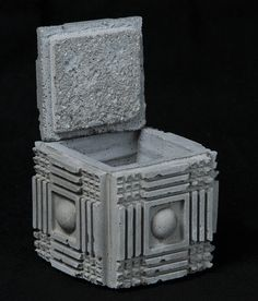 Cement Jewelry Box Ancient Ruin 1 by AncientFutureStone on Etsy