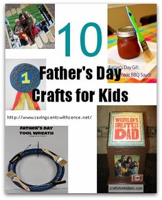 10 Fathers Day Craft Ideas for Kids Holiday Crafts For Kids, Holiday Fun, Gifts For Kids, Holiday Ideas, Fathers Day Presents, Fathers Day Crafts, Father's Day Activities, Holiday Activities, World Father's Day