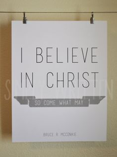 I believe in Christ typography print (2 size options)