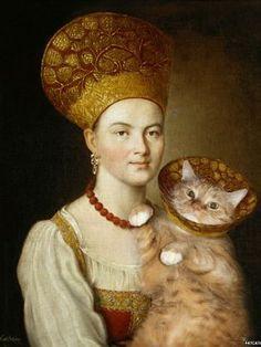 Zarathustra réinvente le photobomb en s'invitant dans le Portrait d'une jeune inconnue d' Ivan Argounov