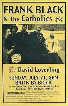 frank black & the catholics at the cat's cradle, carrboro, nc, january 2001. gaaaaaaawwwwwwwd it was so awesome. <3