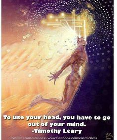 """""""To use your head, you have to go out of your mind."""" Timothy Leary"""